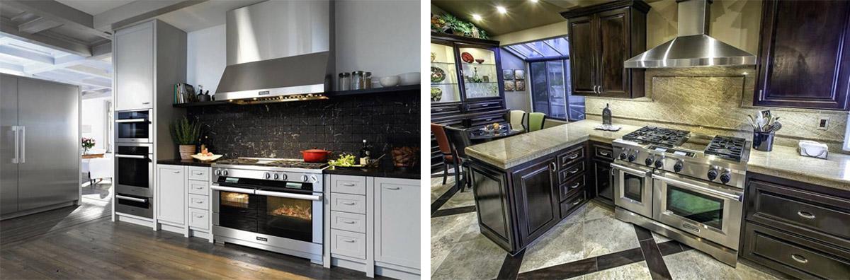 appliances stoves fridge hood fan